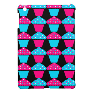 Bright Blue and Hot Pink Cupcake Pattern Case For The iPad Mini
