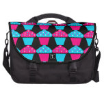 Bright Blue and Hot Pink Cupcake Pattern Computer Bag