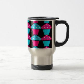 Bright Blue and Hot Pink Cupcake Pattern Mug