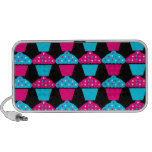 Bright Blue and Hot Pink Cupcake Pattern iPhone Speakers