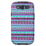 Bright Blue and purple tribal pattern Samsung Galaxy SIII Covers