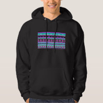 Bright Blue and purple tribal pattern Hoodie