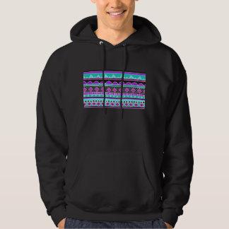 Bright Blue and purple tribal pattern Hoodie