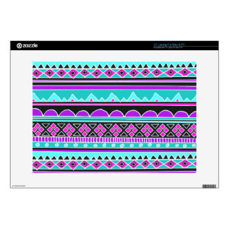Bright Blue and purple tribal pattern Laptop Skins