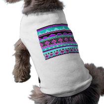 Bright Blue and purple tribal pattern Shirt