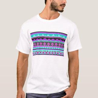 Bright Blue and purple tribal pattern T-Shirt