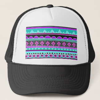 Bright Blue and purple tribal pattern Trucker Hat