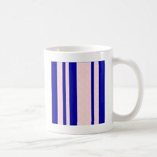 Bright blue and textured pink stripes coffee mug