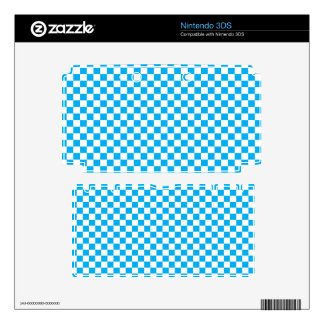 Bright Blue and White Checkerboard Decals For The 3DS