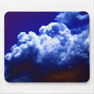 Bright Blue and White Cumulus congestus by KLM Mousepads