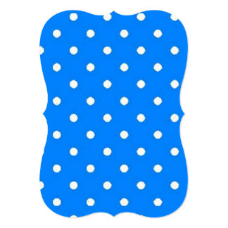 Bright Blue and White Polka Dots Card