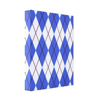 Bright Blue Argyle Canvas Print