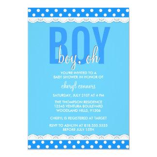 Bright Blue Baby Boy Shower Invitation