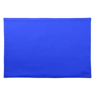 Bright Blue Background on a Placemat
