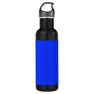 Bright Blue Background on a Stainless Steel Water Bottle