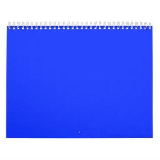 Bright Blue Backgrounds on a Calendar