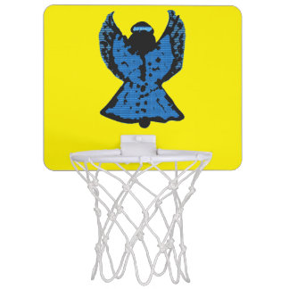 Bright Blue Basketball- Angel of Course- Net Mini Basketball Backboard