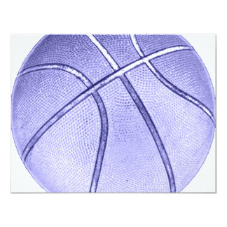 Bright Blue Basketball Card