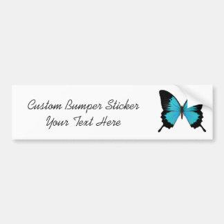 Bright Blue & Black Butterfly Original Colors Car Bumper Sticker