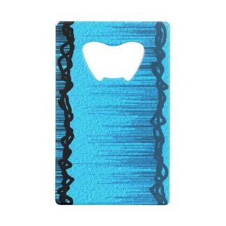 Bright Blue Black Line Card Opener