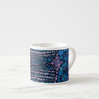 Bright Blue Bling Abstract Pattern Espresso Cup