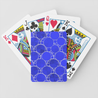 Bright Blue Bling Bicycle Playing Cards