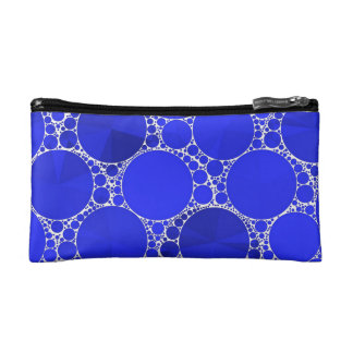 Bright Blue Bling Cosmetic Bag