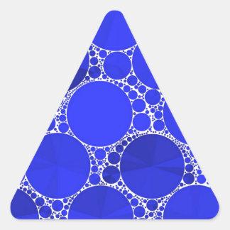 Bright Blue Bling Triangle Sticker