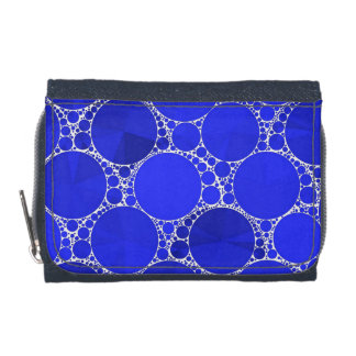 Bright Blue Bling Wallets