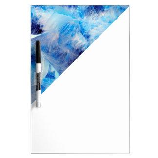 Bright Blue Boa Feather Pattern Dry Erase Board