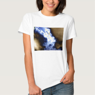 Bright Blue&Brown Merging Storm Fronts and Bright T-shirt