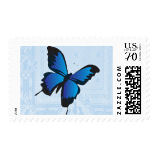 Bright Blue Butterfly Postage Stamps