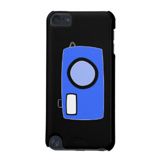 Bright Blue Camera On Black iPod Touch (5th Generation) Cover