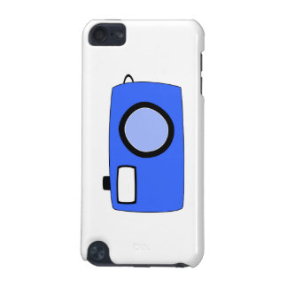 Bright Blue Camera On White iPod Touch (5th Generation) Case