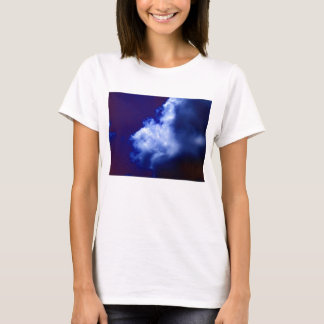 Bright Blue Chaotic Cloud by KLM T-Shirt