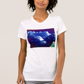 Bright Blue Chaotic Cumuls congestus and Glowing T T Shirt