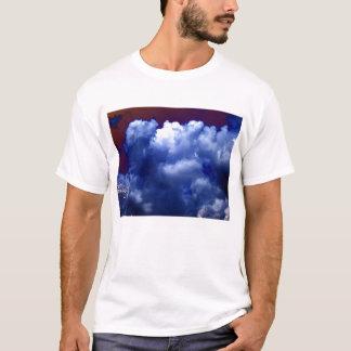 Bright Blue Chaotic Cumulus congestus and Purple L T-Shirt