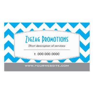 Bright Blue Chevron Business Cards