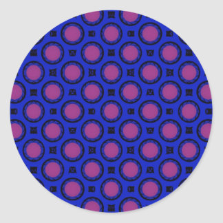 Bright blue classic round sticker
