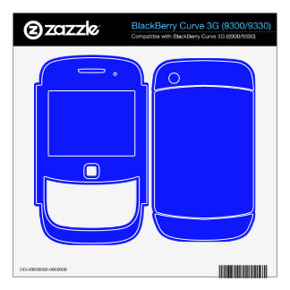 Bright Blue Color Decals For The BlackBerry