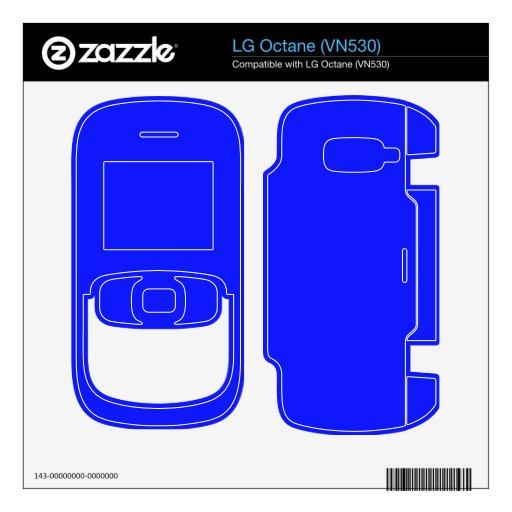 Bright Blue Color Skins For LG Octane