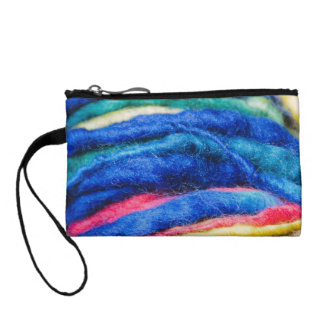 Bright Blue Colors Yarn Photography Coin Purse