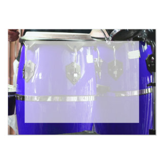 Bright blue conga drums photo card