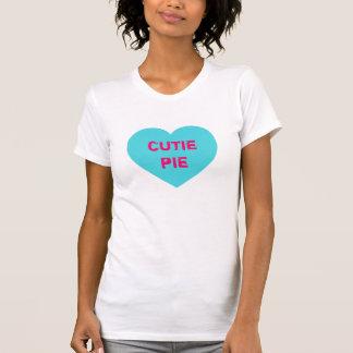 Bright Blue Conversation Heart T-shirt