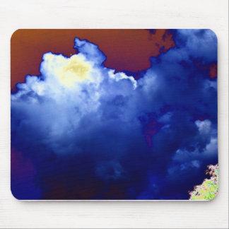 Bright Blue Cumulus congestus and Dark Blue Storm Mouse Pads
