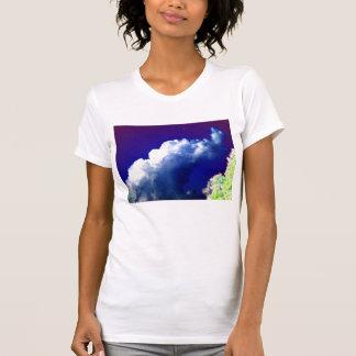 Bright Blue Cumulus congestus Glowing Trees and Bi Tshirt