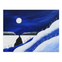 Bright Blue Desert Southwest Winter Postcard