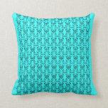 Bright blue design pillow
