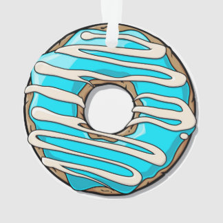 Bright Blue Donut with Icing