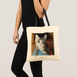 Bright Blue Eyed Kitten Tote Bag
